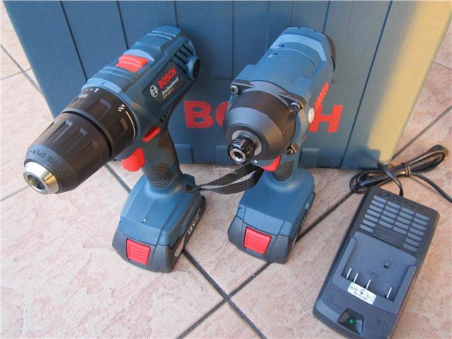 Bosch GDR & GSR 18V Cordless Impact & Drill Driver Combo Set