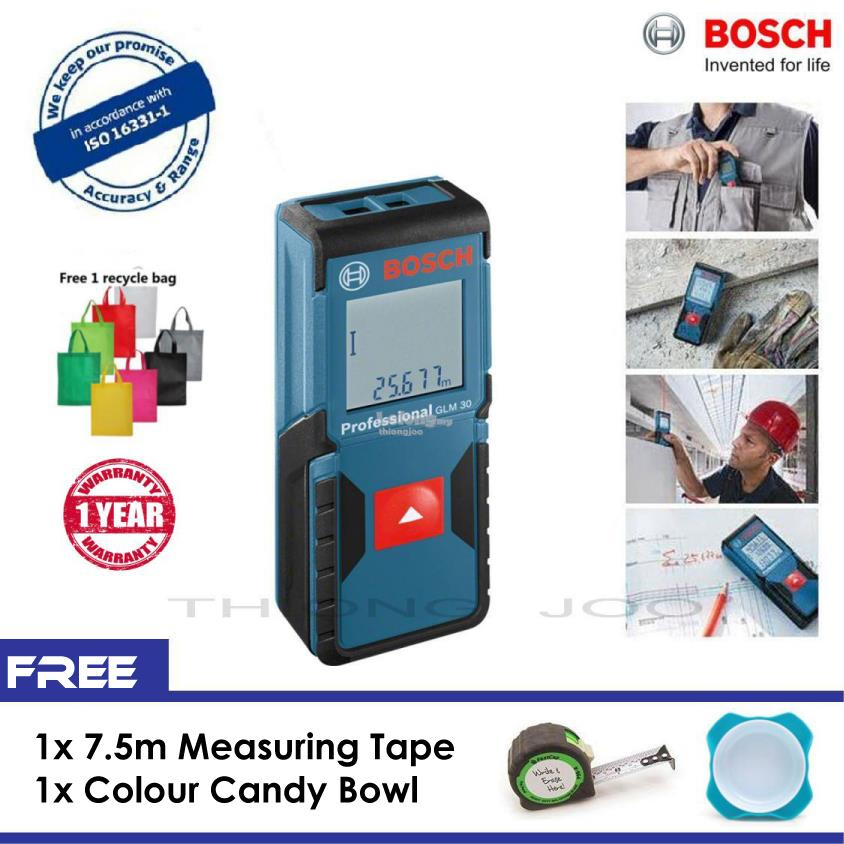 bosch glm 30 laser measure 30m 100ft end 3 27 2018 4 15 pm. Black Bedroom Furniture Sets. Home Design Ideas