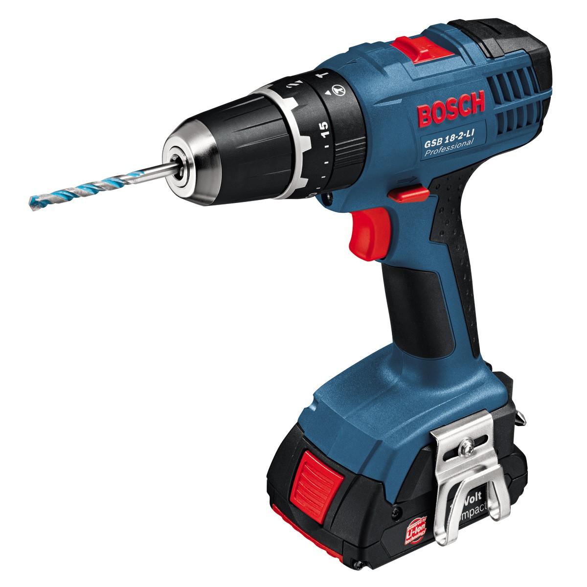 443872085481e Bosch GSB 18-2-LI Cordless Impact Dr (end 5 10 2019 3 56 PM)