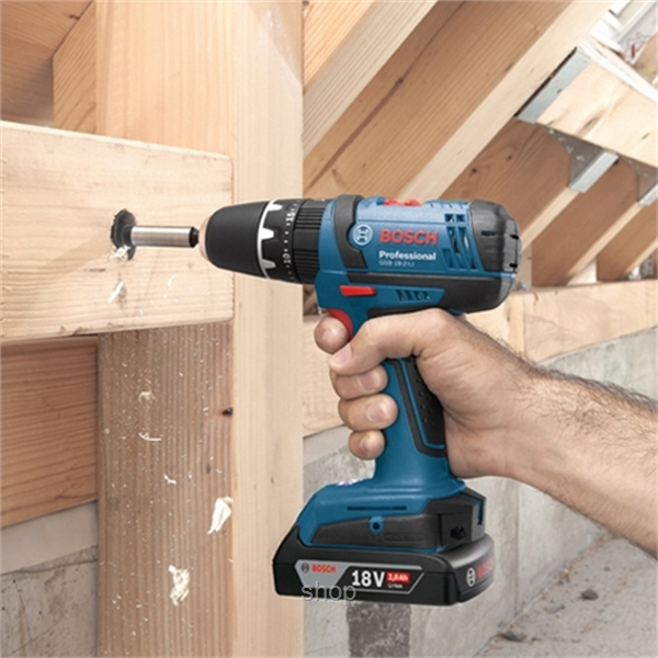 Bosch GSB 18-2LI Professional Cordless Impact Drill (with 2 Batteries  & Charg