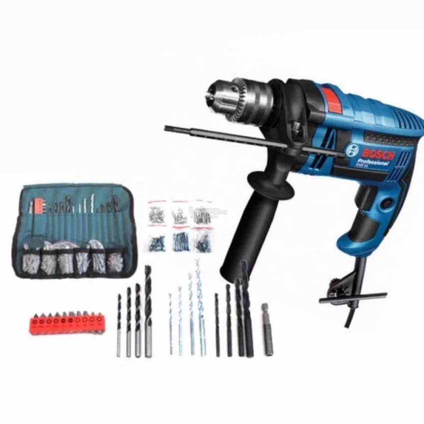 Bosch GSB16RE Impact Drill 750W + Pouch 100PCS