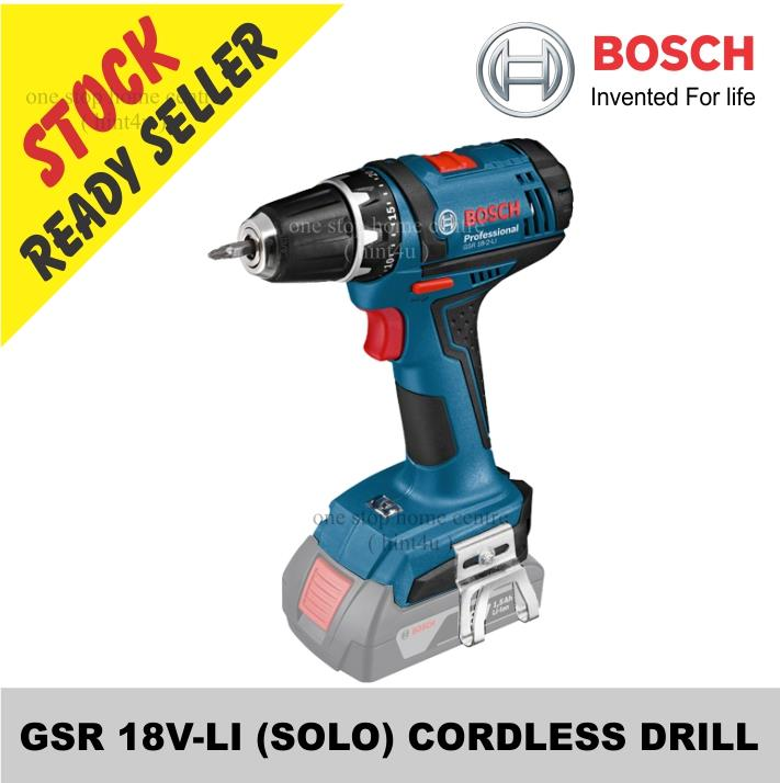 bosch gsr 18v li solo cordless dri end 7 10 2021 7 15 am. Black Bedroom Furniture Sets. Home Design Ideas