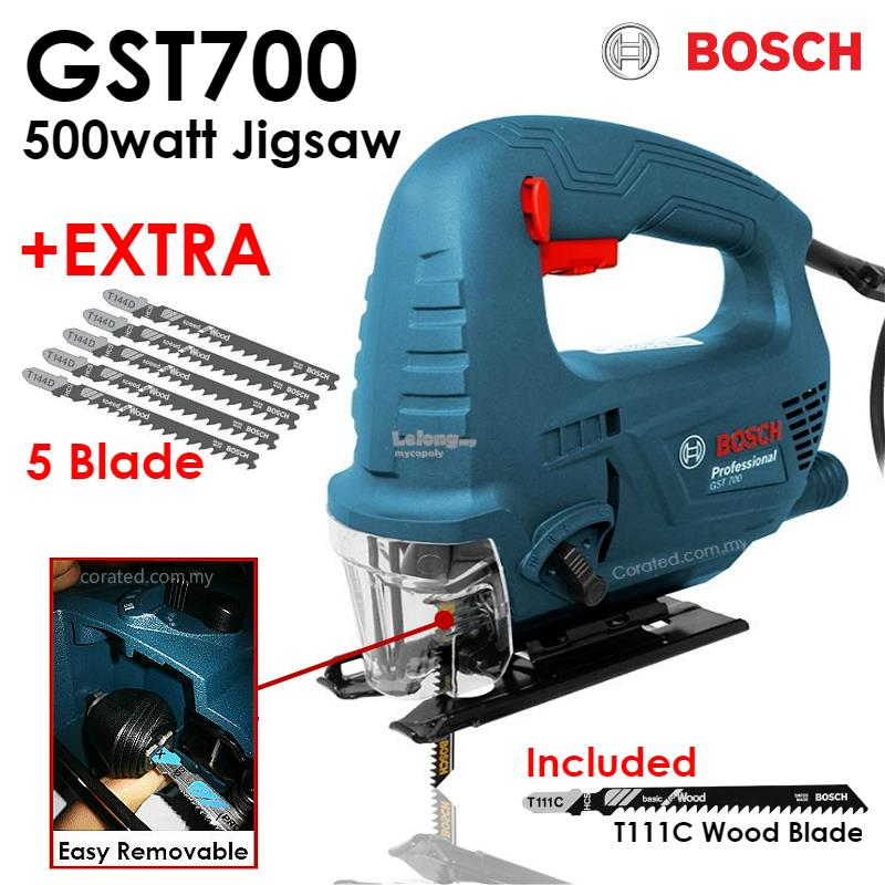 New bosch gst 700 jigsaw 500watt c end 1172019 515 pm new bosch gst 700 jigsaw 500watt cw 5 pieces jigsaw blade gst700 greentooth Choice Image