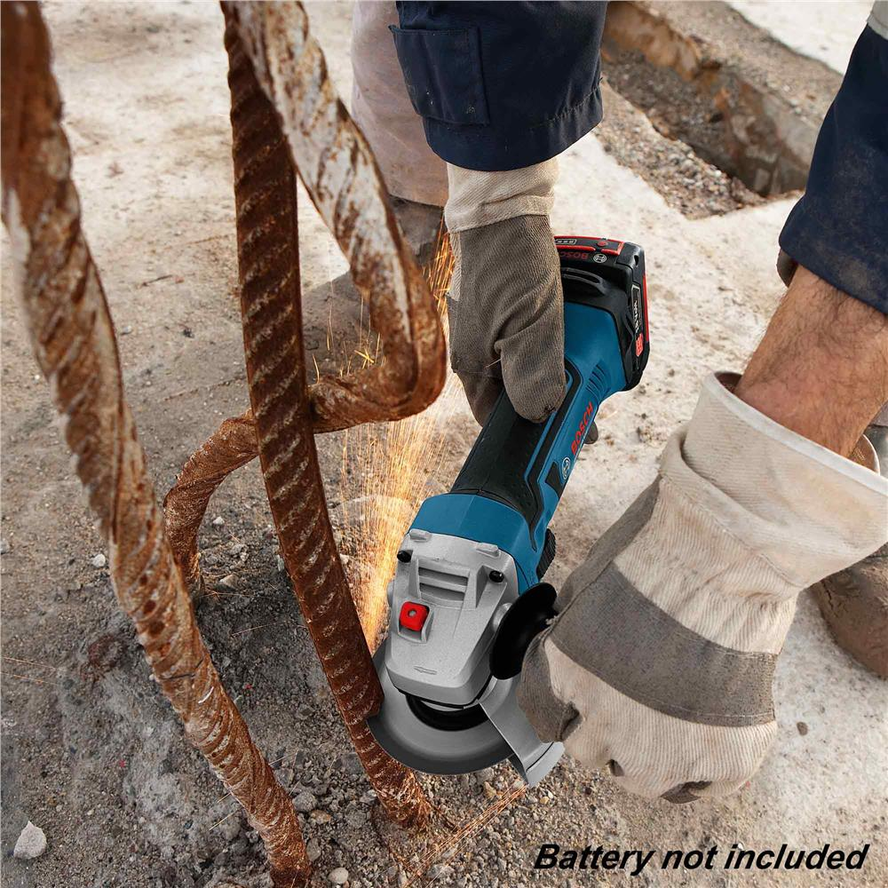 Bosch GWS 18V 100mm (4') Cordless Angle Grinder (Solo)