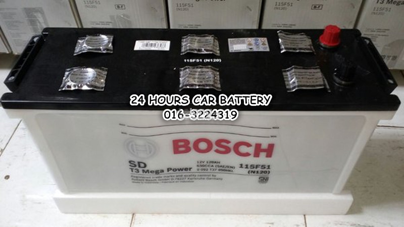 BOSCH SD MEGA POWER DRY CHARGE N120 (115F51) AUTOMOTIVE CAR BATTERY