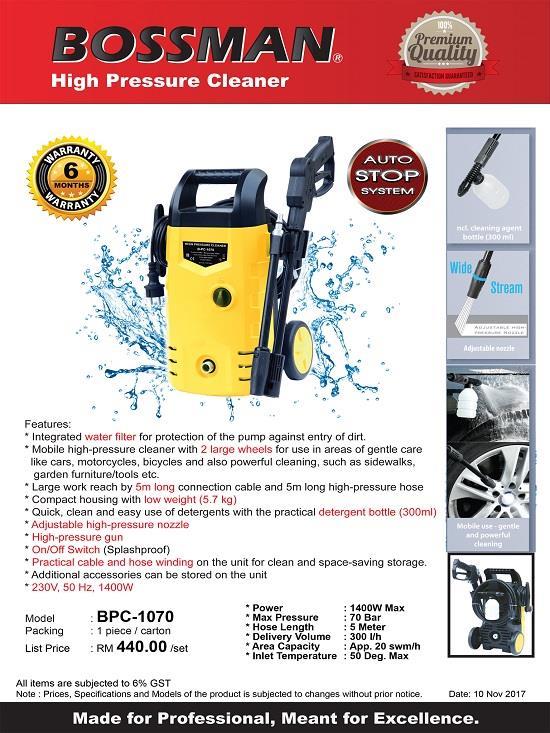Bossman Bpc1070 High Pressure Clean End 4 26 2019 10 15 Pm