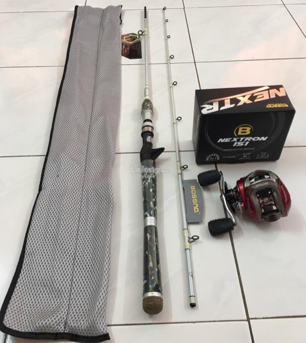 Bossna Korea Casting Fishing Combo Set ( Rod + Reel ) NEW FULL SET