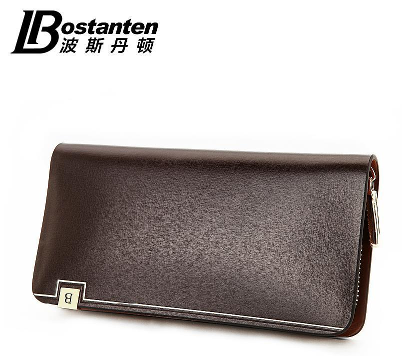 Bostanten 100% Cow Leather Man's Wallet Money Clips Bag Case