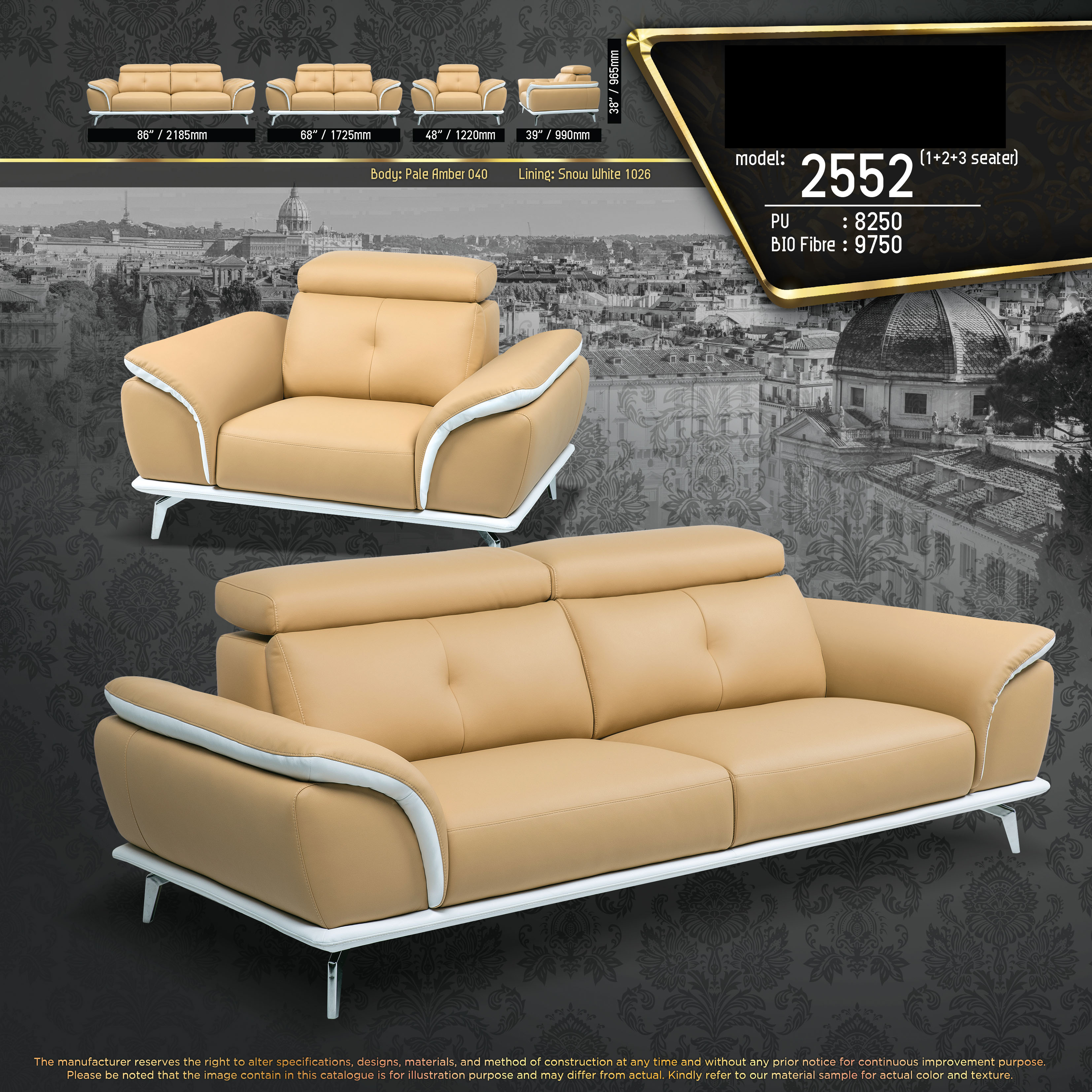 Boston 1+2+3 Seater Fully Leather Sofa Lounge Chair Living Hall Sofa