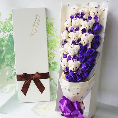 Bouquet Flower Gift Box Wedding Birthday Valentine