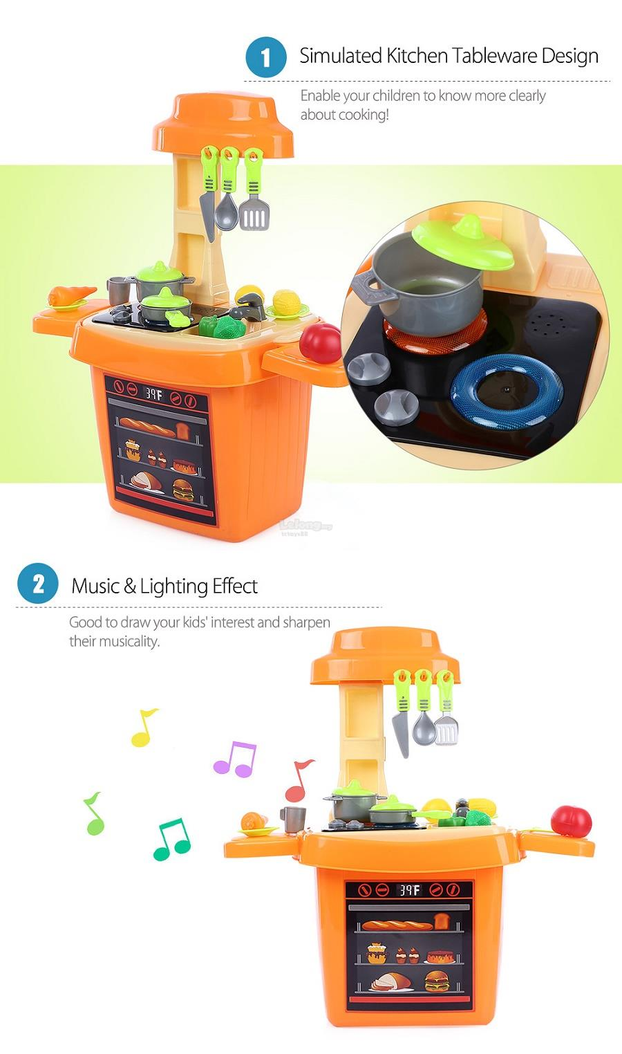 BOWA 2017 KITCHEN Toy Playset Cooking Toys Kitchen with lights & Music