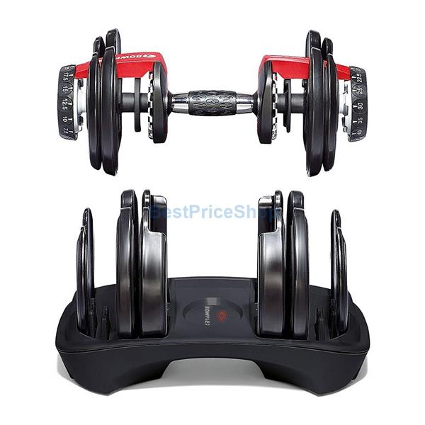 Bowflex SelectTech 1090 Adjustable Dumbbell Weighlifting Fitness Gym