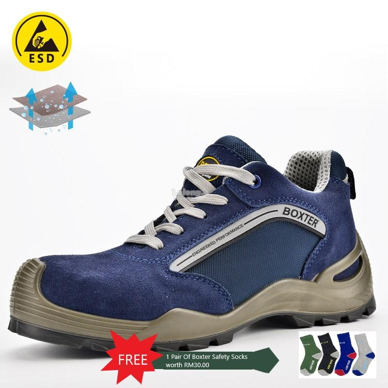 BOXTER SAFETY SHOES SPORTY WITH HIGH QUALITY SUEDE COW LEATHER