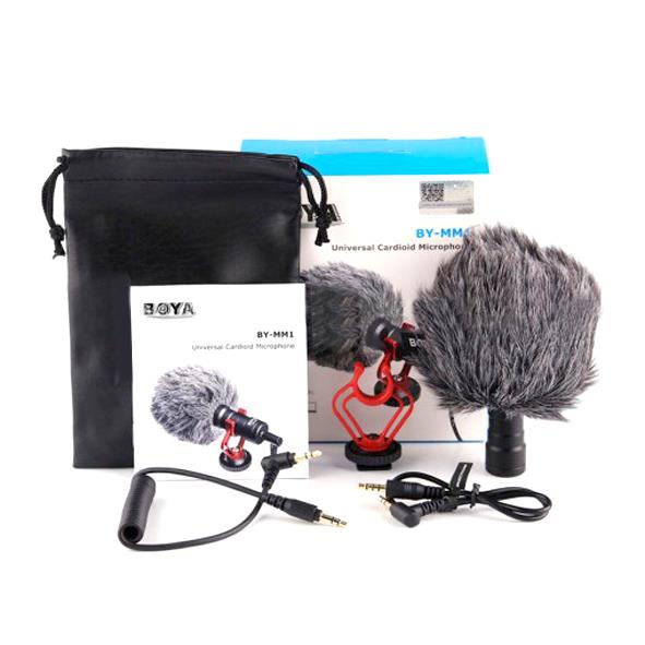 Boya BY-MM01 Universal Cardioid Video Microphone for Smartphone/ DSLR