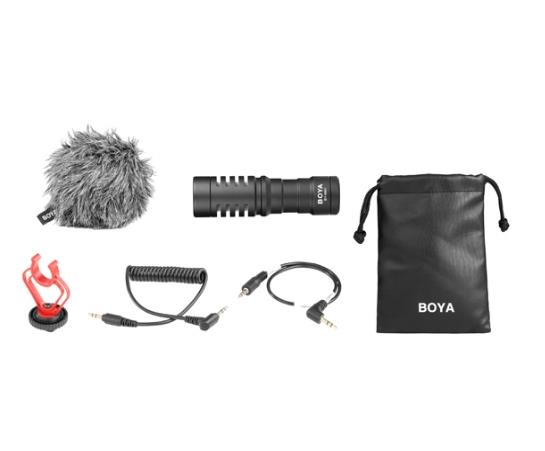 BOYA BY-MM1 UNIVERSAL CARDIOID MICROPHONE WITH WIND SHIELD