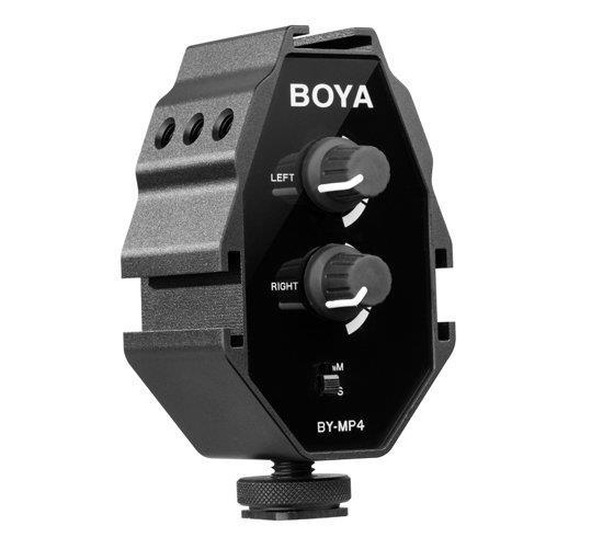 BOYA BY-MP4 2-Channel Audio Adapter for Smartphone and Camera