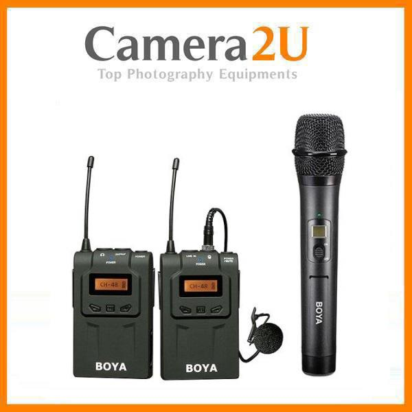 Boya BY-WM6 + WHM8 Wireless Handheld Microphone System