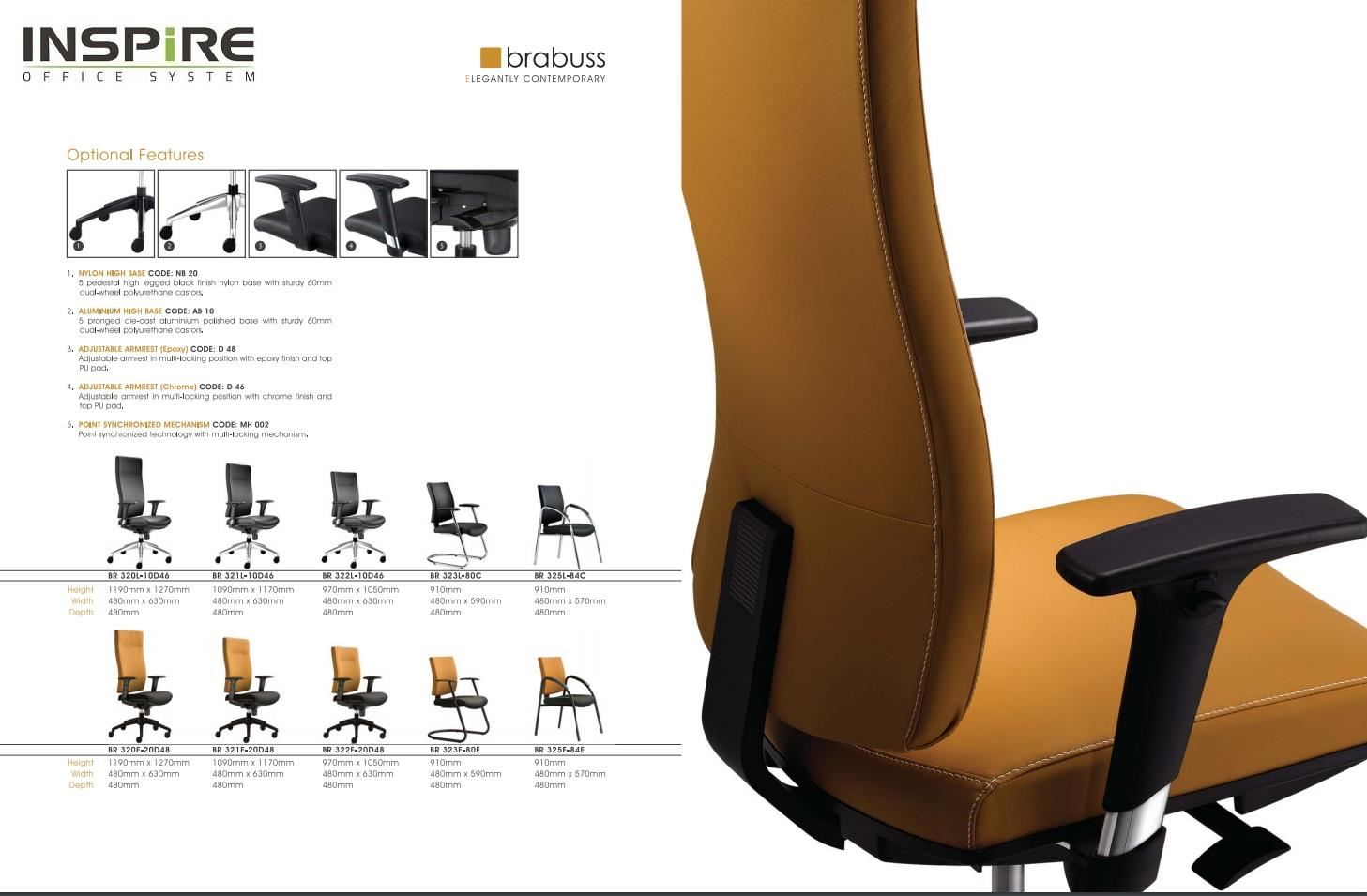 Brabuss Series P.U Leather Low Back Office Chair