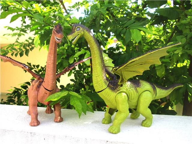 Brachiosaurus Lay Eggs Electric Dinosaur Toy with Sound n Light Gift