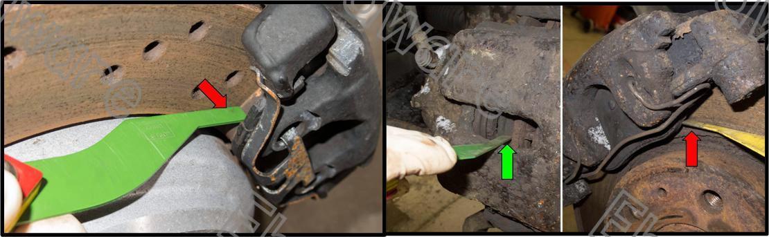 705 Brake Lining Thickness Gauge : Brake pad lining thickness gauge end  am