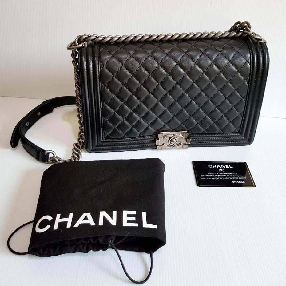 Brand New 100 Original Chanel Boy Medium Lambskin