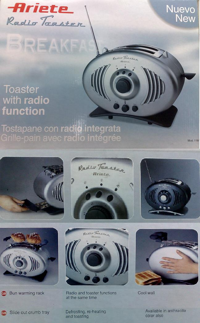 <B>~ BRAND NEW  2-in-1 RADIO WITH TOASTER  @ ARIETE @ FASTECH ~</B>