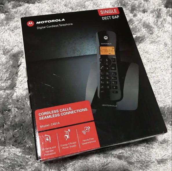 BRAND NEW Motorola C401A SIngle DECT cordless phone CHEAPEST sale!