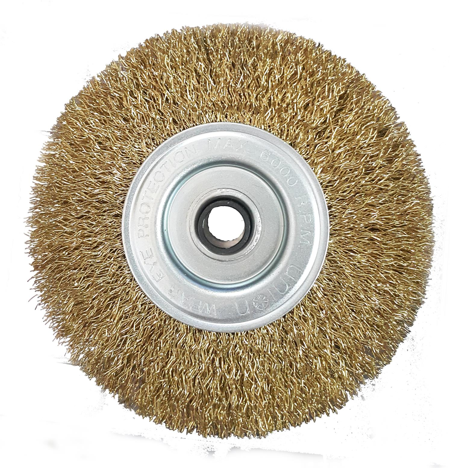 Brass Coated Wire Wheel Brush 4 Inch