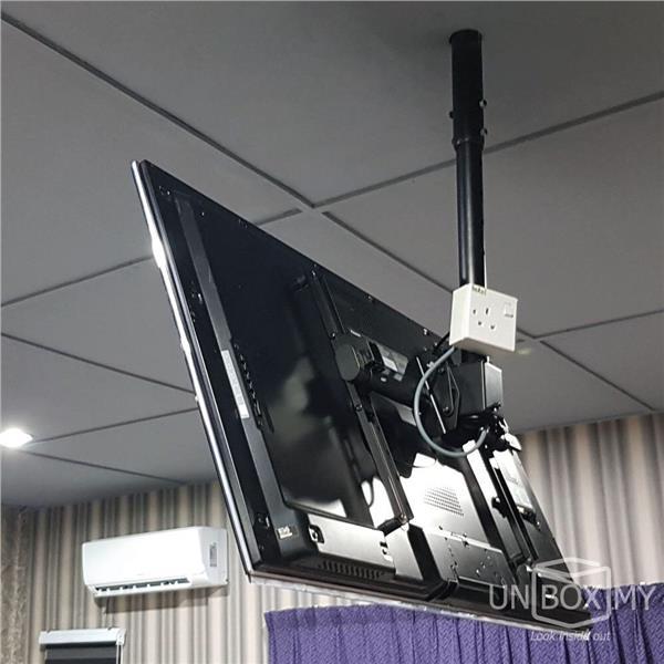 Brateck Plb Ce946 01l 37 70 Inch Telescopic Tv Ceiling Mount Bracket