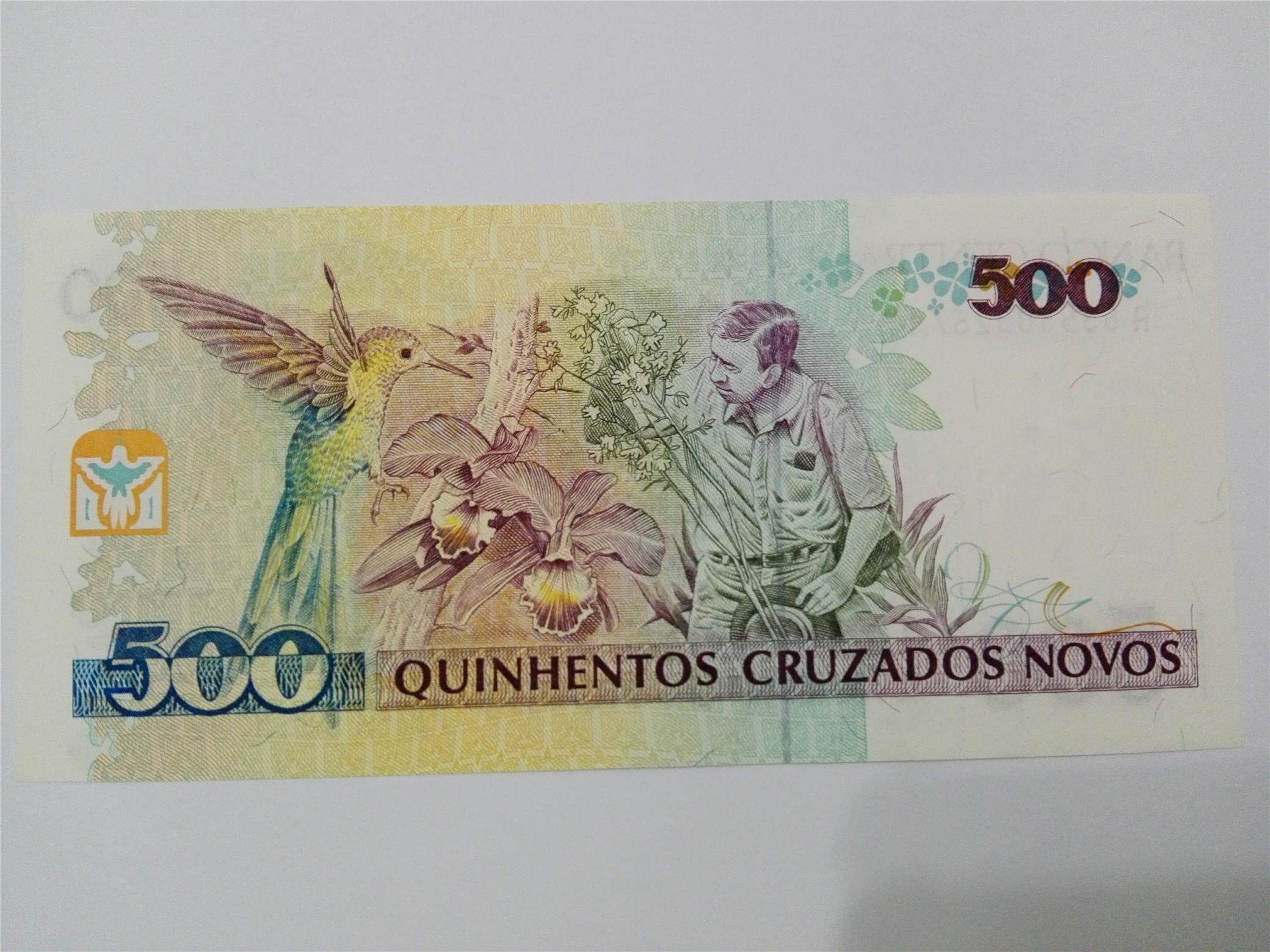 BRAZIL, 500 Cruzeiros Bank Note