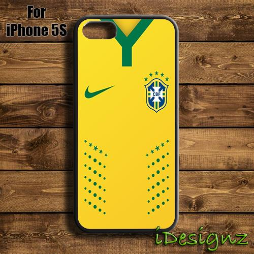 huge discount 44fad 12ad4 Brazil Football Team Jersey Case Cover for iPhone X 8 8+ 7 7+ 6 6+ 5S