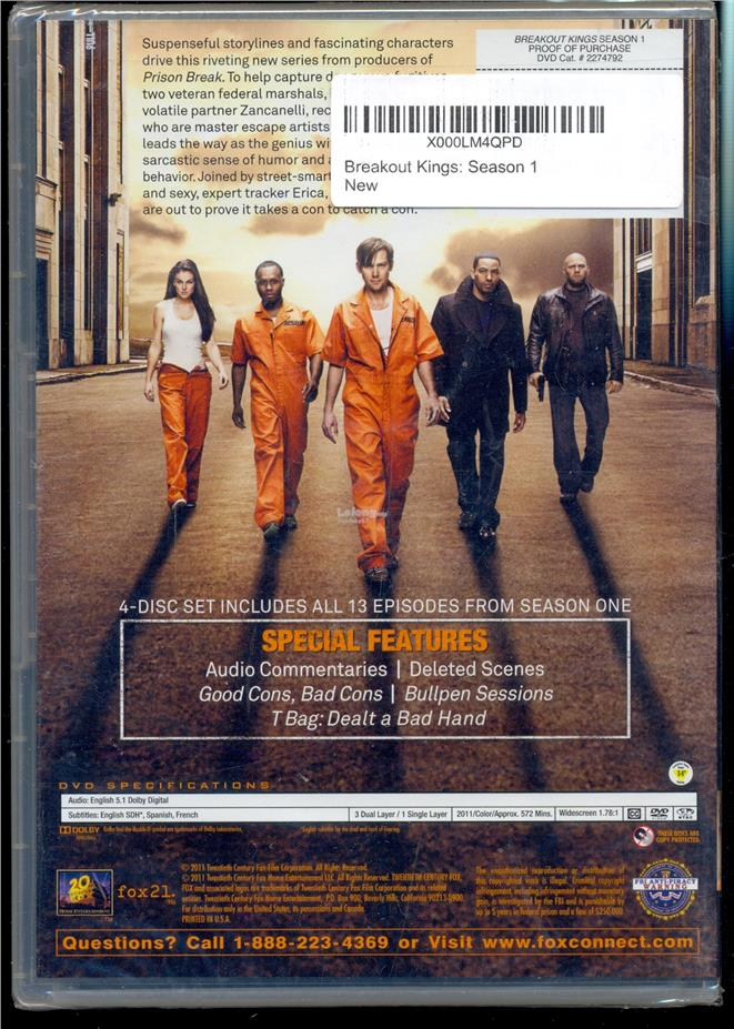 Breakout Kings The Complete First Season - New DVD