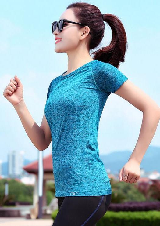 Breathable Quick Dry Ladies' Sport T-shirt (Lake Blue)