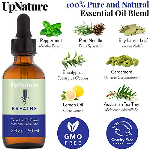 Breathe Essential Oil 2 OZ – Breathe Easy for Allergy, Sinus, Cough and Cong