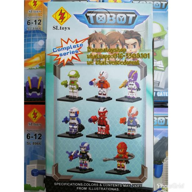 Brick Compatible SLTOYS 8966A TOBOT Series Minifigure Complae Set