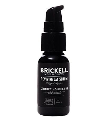 ..// Brickell Men's Anti Aging Reviving Day Face Serum for Men, Natural and Or
