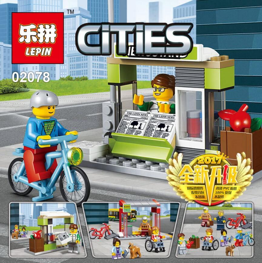 Bricks CITIES - BUS STATION 02078 Lego Compatible
