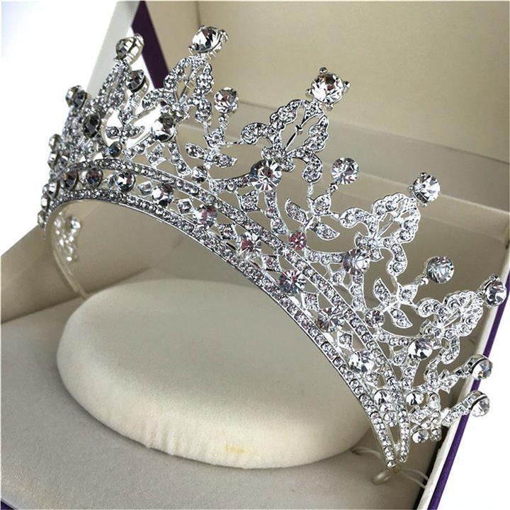 Bride Wedding Crown: Bride Crystal Rhinestone Crown Vint (end 12/22/2018 8:15 AM