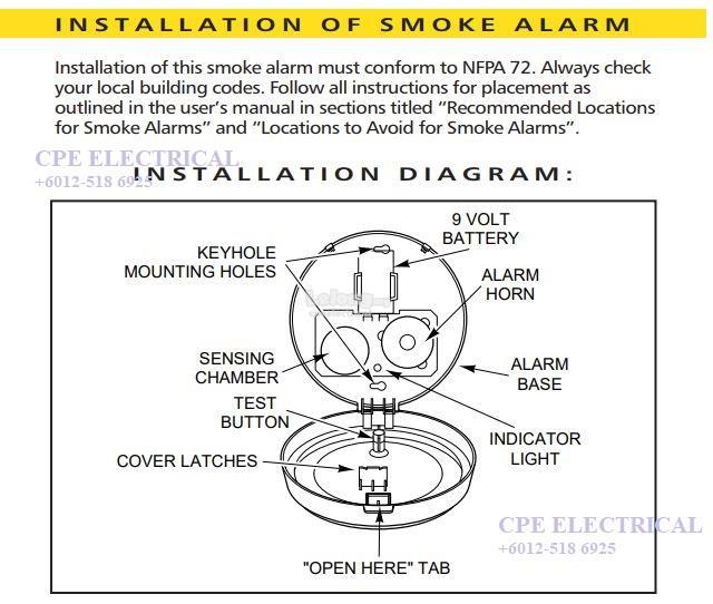 BRK 83RN - Ionization Battery Operated Smoke Alarm, 9V