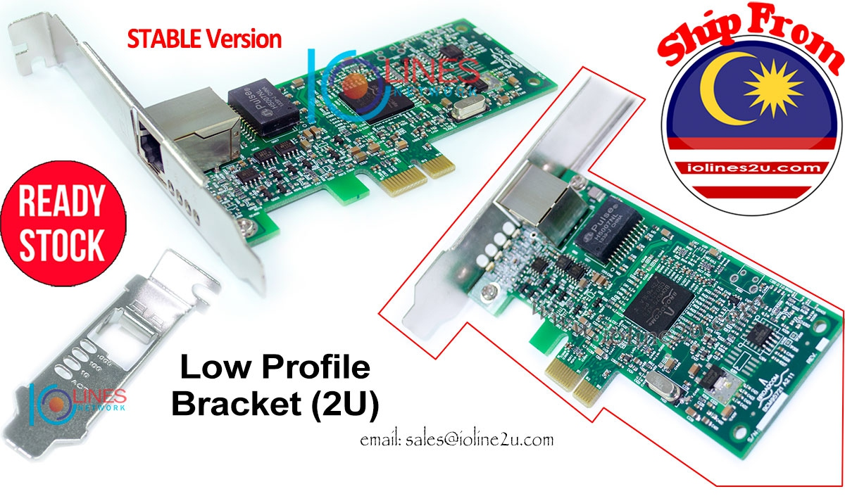 Broadcom BCM5751 1000mbps Gigabit PCIe Network Card Boot Rom Low Profile NIC D