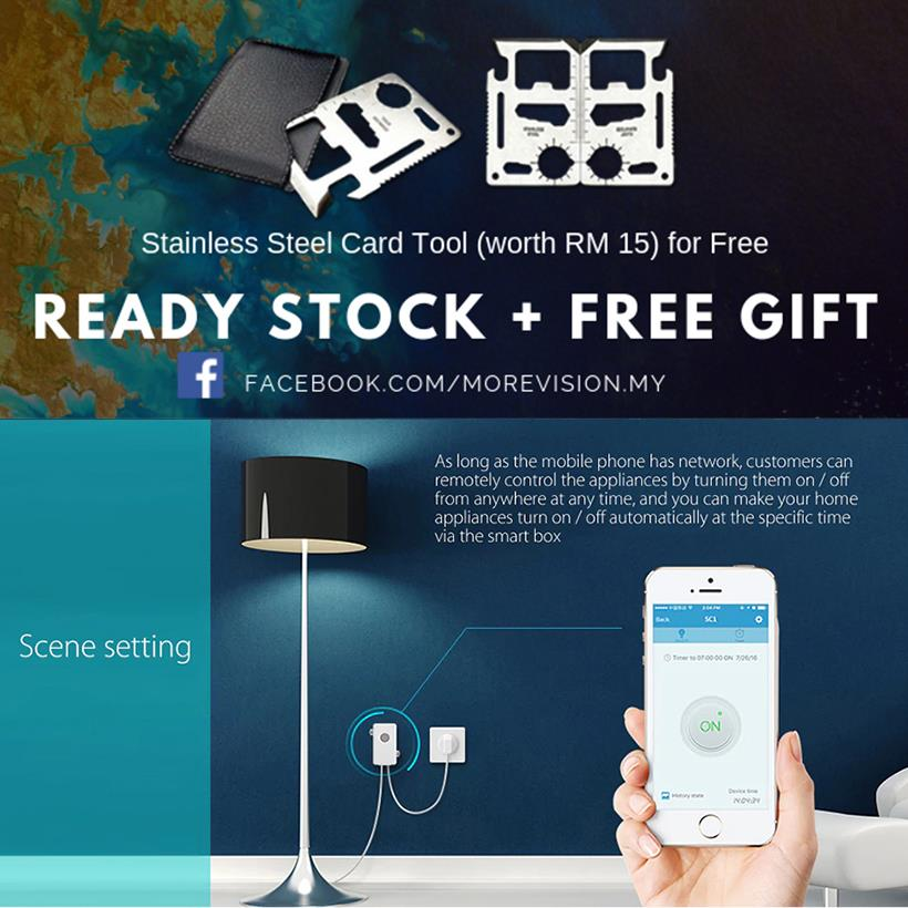 Broadlink Wifi Smart On/Off Switch Timer Phone Control App Alexa SC1
