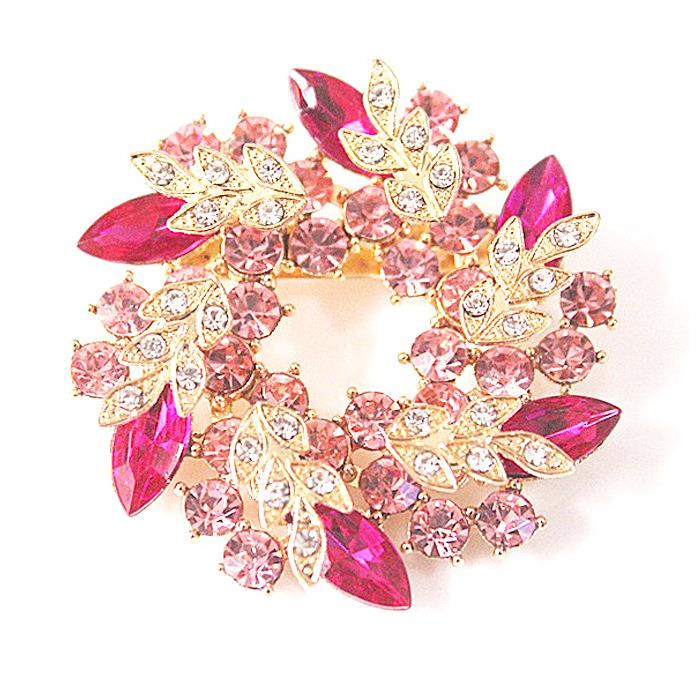 Brooch Pin Flower Bouquet (Rose Red) (end 7/8/2018 8:15 PM)