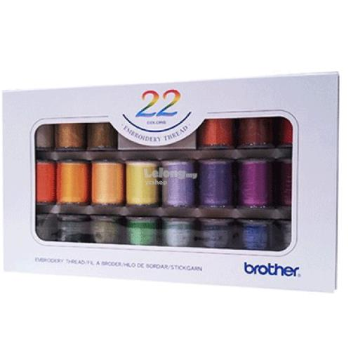 Brother 22 color embroidery thread (ETS-22N)