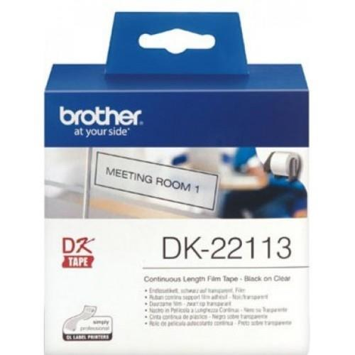 Brother Black on Clear Continuous Length Film 62mm x 15.24m (DK22113)