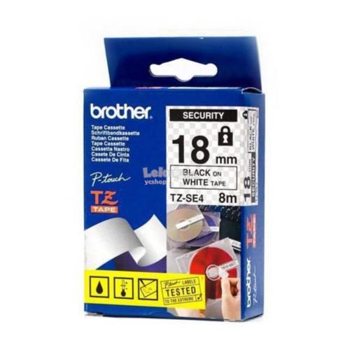 Brother Black on White 18mm Security Tape (TZe-SE4)