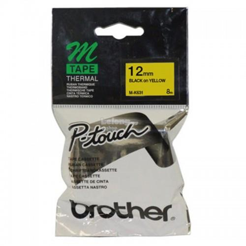 Brother Black on Yellow 12mm Tape (M-K631)