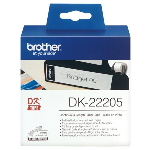 Brother Continuous Length Paper Tape  62mm x 30.48m (DK22205)