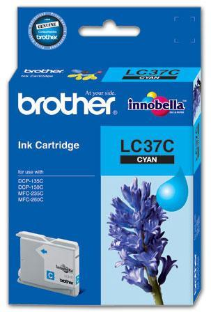 BROTHER LC-37 CYAN INK CARTRIDGE GENUINE
