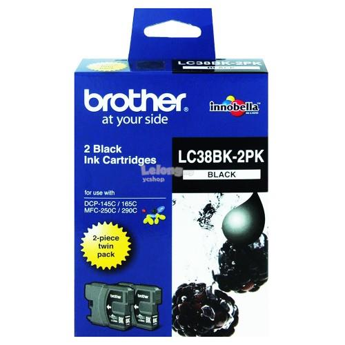 Brother LC-38 Black Twin Pack (LC-38)