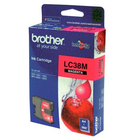 BROTHER LC-38M MAGENTA INK CARTRIDGE